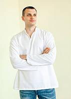 Сорочка без китиць під вишивку з довгим рукавом, чоловіча, біла 56