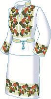 Схема для вишивки жіночого плаття з викрійкою. Арт. F2600