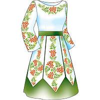 Схема для вишивки жіночого плаття з викрійкою. Арт. F2815