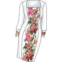 Схема для вишивки жіночого плаття з викрійкою. Арт. F2806
