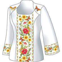 Схема для вишивки жіночого плаття з викрійкою. Арт. F2814