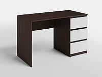 Письменный стол СП-7 с 1 тумбой Дуб Венге Магия/Белый