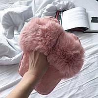 Тапочки комнатные открытые розовые