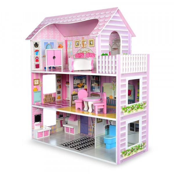Деревянный домик для кукол Bambi MD 1204