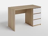 Письменный стол СП-7 с 1 тумбой Дуб Сонома/Белый