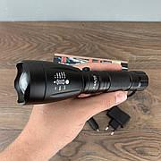 Компактный тактический фонарик Police BL 1892 T6 LED аккумуляторный светодиодный ручной фонарь дальнобойный