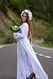 По-лебединому ніжне, біле по білому вишите плаття! «Лебідка», фото 3