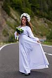 По-лебединому ніжне, біле по білому вишите плаття! «Лебідка», фото 2