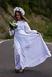 По-лебединому ніжне, біле по білому вишите плаття! «Лебідка», фото 4