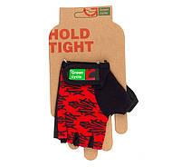 Перчатки Green Cycle NC-2140-2013 Kids без пальцев M красно-черные