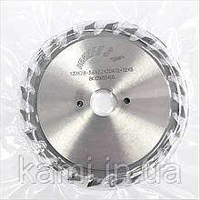 KANEFUSA 120х2,8-3,6х22 мм подрезные двухкорпусные пилы для форматно-раскроечных станков