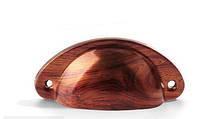 Ручка мебельная ракушка дерево