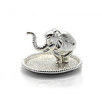 """Подставка под кольца """"Слон"""" (9х5х7,5 см)""""Серебро"""""""