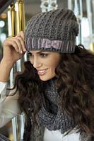Красивая вязанная шапка с бантиком от Kamea - Klarisa.