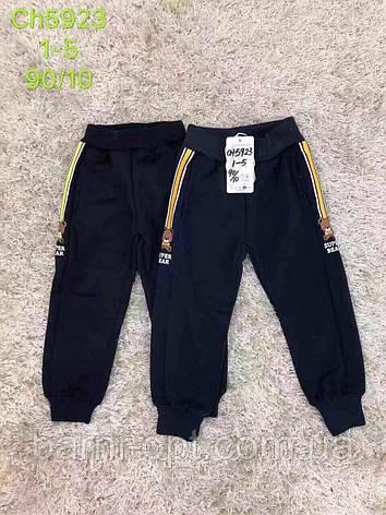 Спортивные брюки утепленные на мальчика оптом, S&D,  98-128 рр, фото 2