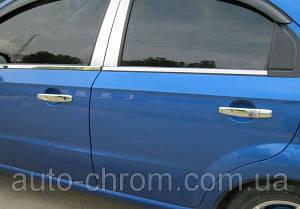 Хром молдинг стекла Chevrolet Aveo седан