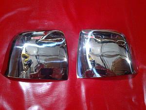Накладки на зеркала нерж FIAT DOBLO с 2010 г.в.
