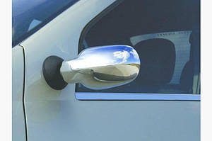 Накладки на зеркала нерж для Dacia Logan 2004-2008