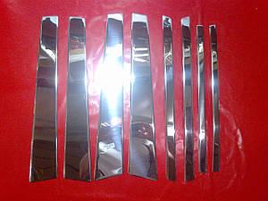 Хромированные накладки на стойки дверей Suzuki Grand Vitara