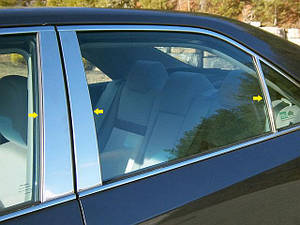 Хромированные накладки на стойки дверей Toyota Camry 40 2006-2011