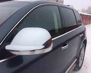 Накладки на зеркала нерж Volkswagen Touareg 2006-2009