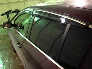 Ветровики с хромом Skoda Superb 2009-2015