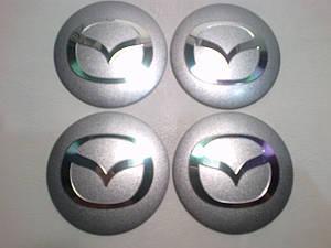 Наклейка выпуклая на колпачок диска Mazda 56 мм