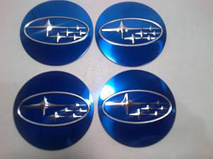 Наклейка на колпачок диска Subaru 55 мм