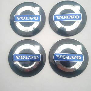 Наклейка выпуклая на колпачок диска Volvo 56 мм черная