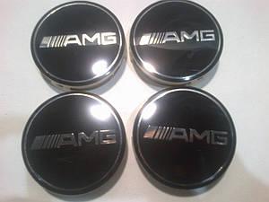 Колпачок в диск Mercedes AMG черный диаметр 71 мм