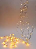 Гирлянда 3м, 450 мини- LED (цвет - тёплый белый), 15 нитей, 30 диодов/ нить, постоянное свечение
