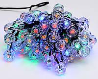 Гирлянда 5м, 100 LED (разноцветные), 8 режимов, с украшением на лампочку Кристалл