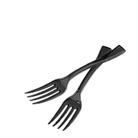 Вилка пластиковая для фруктов черная 250шт, фото 1