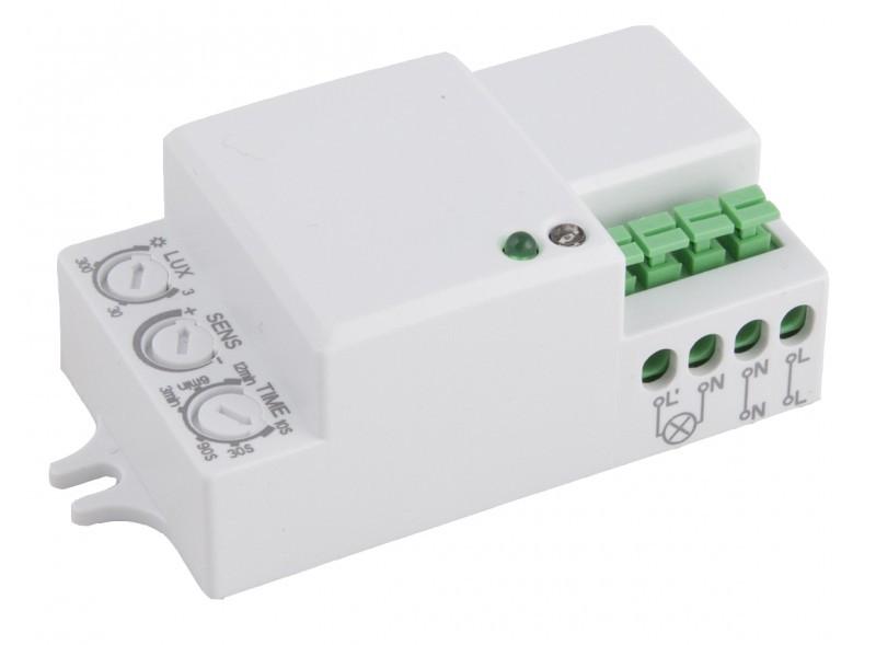 Датчик движения микроволновый LUXEL 360° IP20 3-2000 LUX (MW-08W)