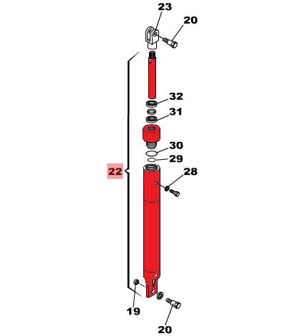 Гидроцилиндр для шлагбаума FAAC серии 640