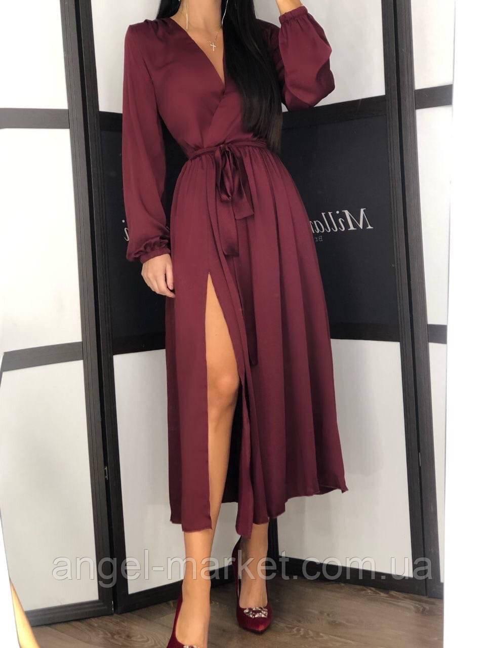 Платье осеннее, красивое с длинным рукавом.Новинка 2020