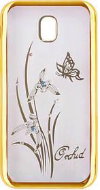 Силикон SA J330 gold bamper Orchid swarowski (2017)