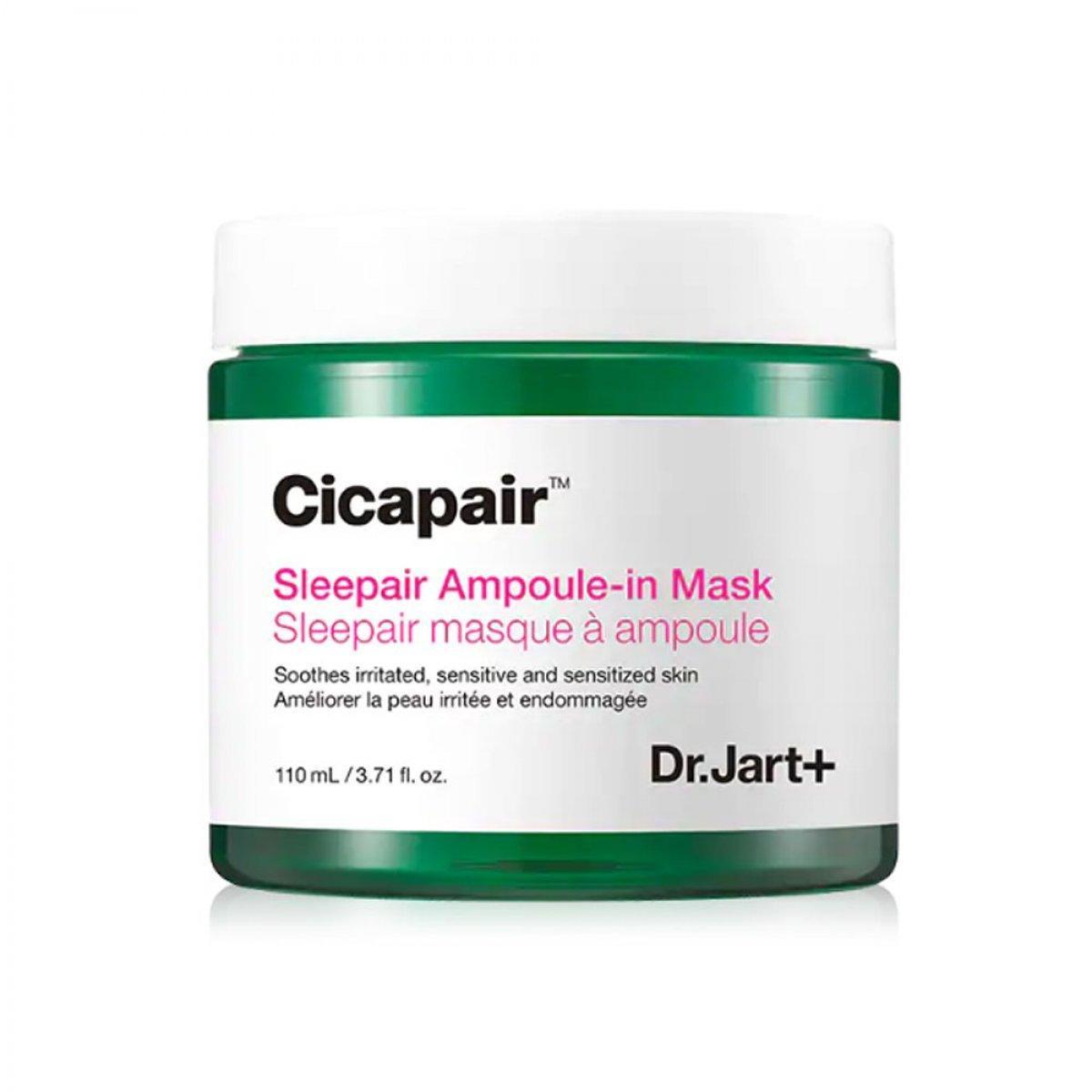 Ночная маска для чувствительной кожи лица Dr. Jart+ Cicapair Sleepair Ampoule-in Mask 110 мл (8809642711631)