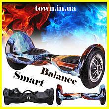 Гироскутер Smart Balance Wheel 10 дюймов огонь и лед для детей и взрослых. Гироборд детский