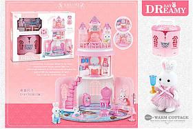 Игровой набор с флоксовыми животными 6628 (10шт)Замок, в наборе 2 фигурки, в коробке 51*17*38см