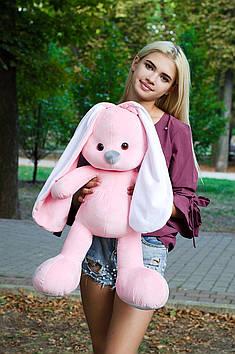 Плюшевий зайчик Майя 80 см Рожевий