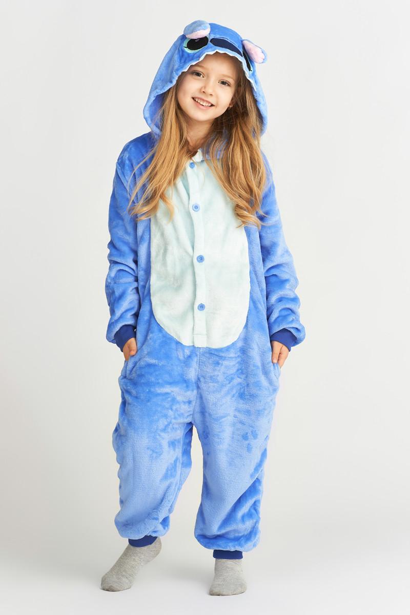 Пижама кигуруми для детей Синий Стич Funny Mood