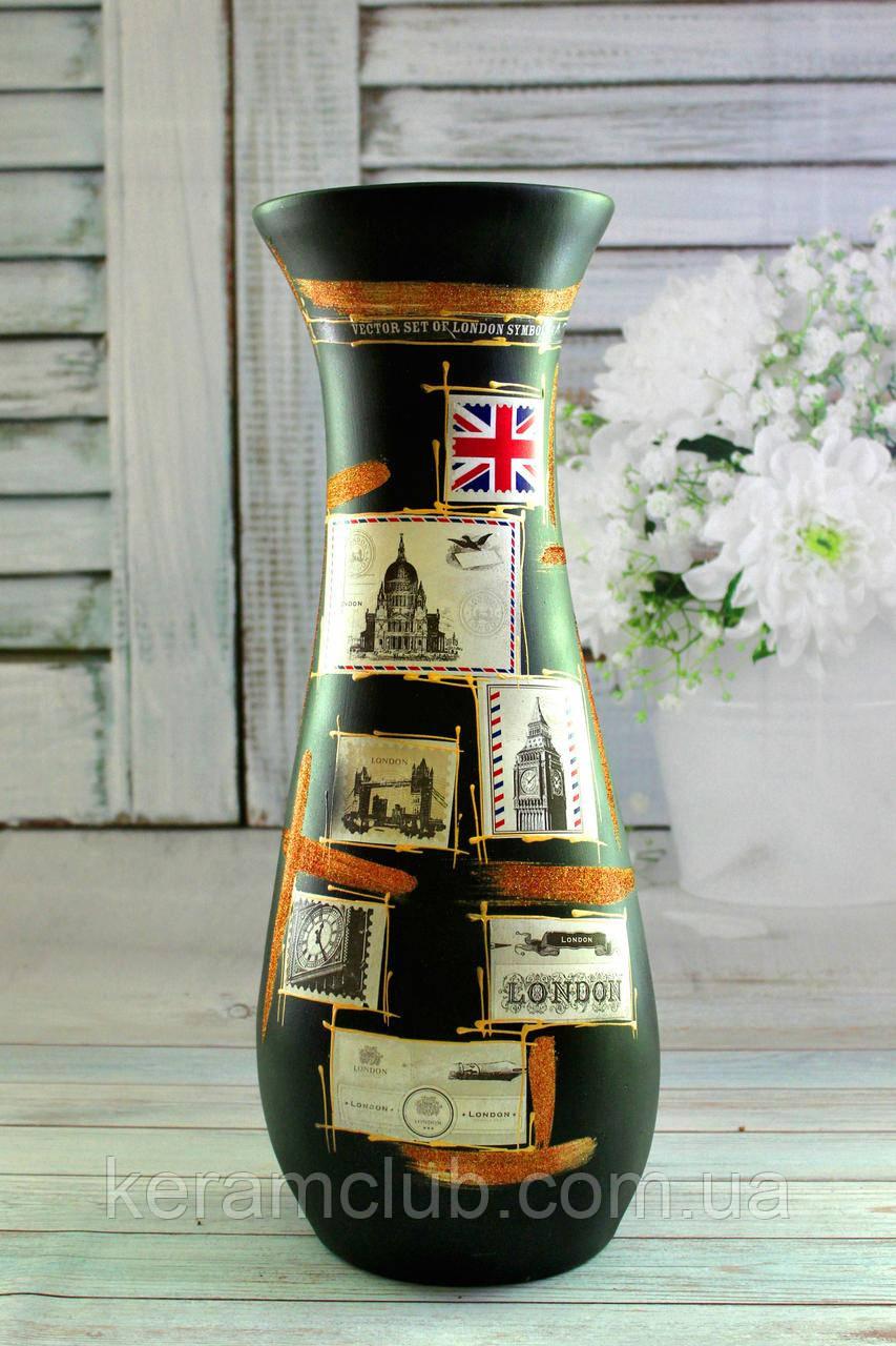 Напольная ваза черная Нью-Йорк