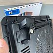 Охолоджуюча підставка для ноутбука N191 з підсвічуванням охолоджувач вентилятором USB, фото 2