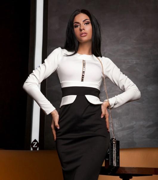 Элегантное платье с баской 2XL 3XL 4XL