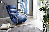 Крісло качалка YORK Chair Relax голубе, фото 2