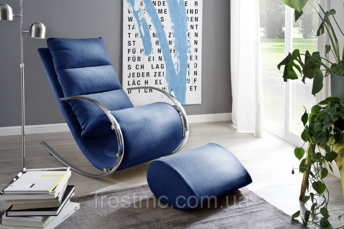 Крісло качалка YORK Chair Relax голубе