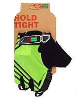 Перчатки Green Cycle NC-2319-2014 Road без пальцев L зеленые