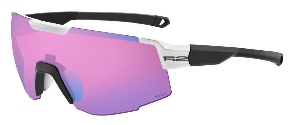 Окуляри R2 Edge AT101B чорний/білий з лінзою Pink Revo HD Tech (Cat.3)