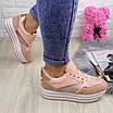 Женские пудровые кроссовки Alice 1077 (38 размер), фото 2